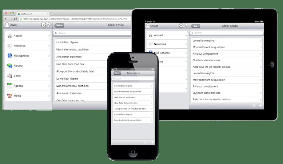 Exemple d'application mobile hybride